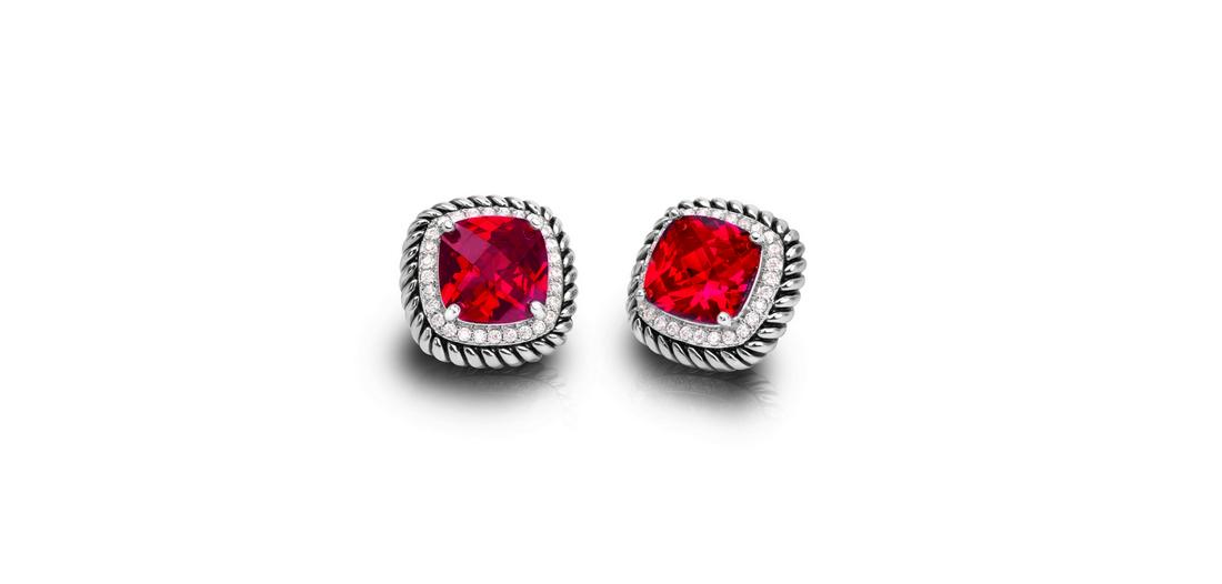 Crimson Radiance Earrings